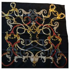 Hermes Jacquard Silk Scarf: L'Instruction du Roy