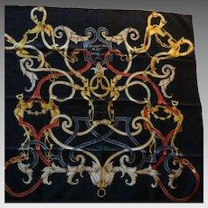 Hermes Jacquard Silk Scarf: L'Instruction du Roy