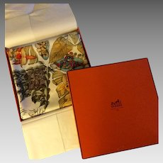 Hermes Scarf: Pythagore (LIKE NEW, with Hermes Box)
