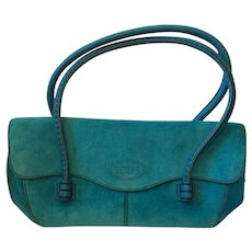 Tod's Turquoise Suede Bag
