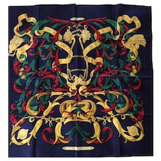 "LIKE NEW Hermes Scarf: Le Mors ""A La Conetable"" with Hermes Box"