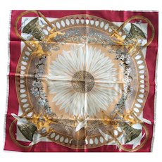 LIKE NEW Hermes Jacquard Silk Scarf: Amours, with Hermes Box