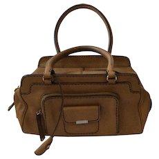 TOD'S Camel Leather Satchel Handbag