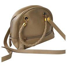 Bottega Veneta Italian Leather Bag with Intrecciato Handles, PRISTINE