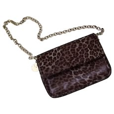 Judith Leiber Leopard Print Ponyhair Bag, PRISTINE