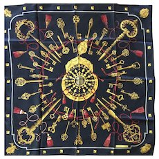 LIKE NEW Hermes Scarf: Les Cles