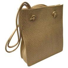 Bottega Veneta Woven Raffia and Leather Shoulderbag Tote, EXCELLENT Condition