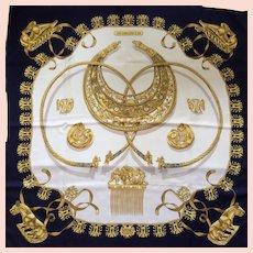 Hermès Silk Scarf in Hermès Box: Les Cavaliers D'Or