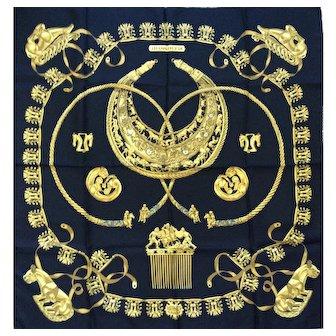 LIKE NEW Hermès Silk Scarf: Les Cavaliers D'Or