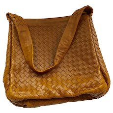 Bottega Veneta Intrecciato Saddle Brown Leather Bag