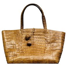 Vintage Nancy Gonzalez Handcrafted Caiman Crocodile Handbag