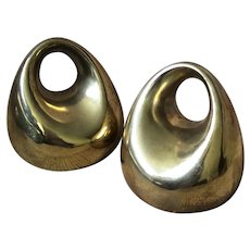 Ben Seibel MidCentury Brass Orb Bookends