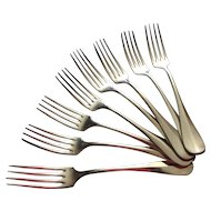 Christofle silver plated dinner forks, set of 8