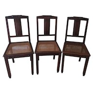 French Dining Chairs with carved tops, set of 3