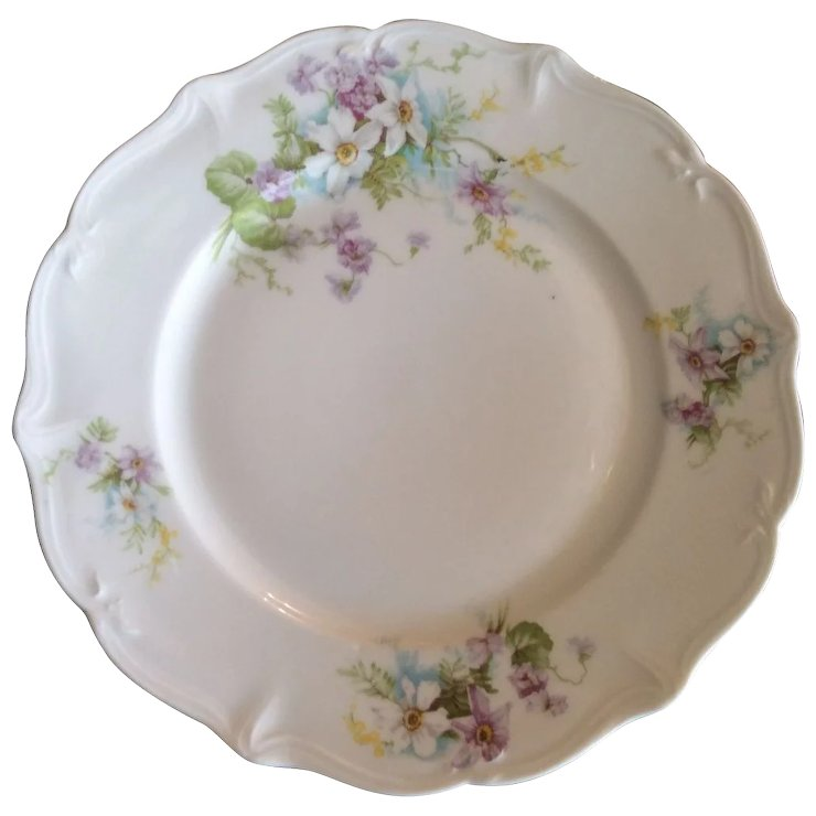 French Limoges Dinner Plates by Ahrenfeldt Set of 8 (one extra!)  sc 1 st  Ruby Lane & French Limoges Dinner Plates by Ahrenfeldt Set of 8 (one extra ...