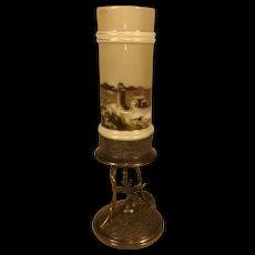 Simpson Hall Miller & Co Victorian Era Bud Vase Lighthouse Scene