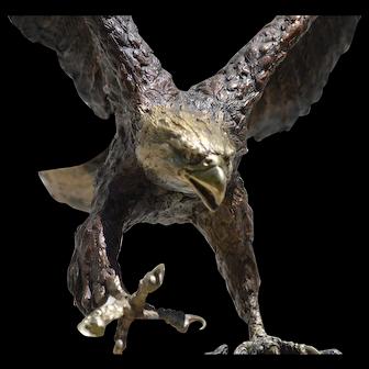 "Bronze Eagle Sculpture ""Centennial"" by Laran Ghiglieri"