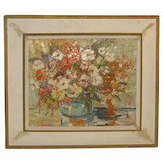 Vintage CHARLES GORDON MARSTON (1898-1980) 'Flowers Still Life Painting - Rockport Cape Ann