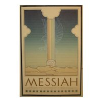 Vintage 1978 DAVID LANCE GOINES 'MESSIAH' Movie Film Poster Signed Print