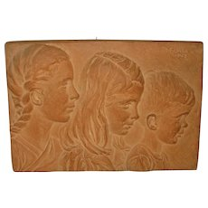 1942 Margaret *Joy* Buba *3 CHILDREN* plaster plaque & YOUNG GIRL Statue - Important American Sculptor