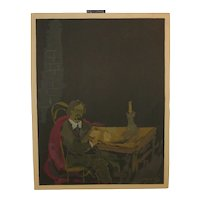 "Emmanuel MANE-KATZ 'Portrait of the Author"" MOURLOT Lithograph fr Sholom Aleikem"