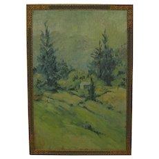 1925 Emilie Ruecker 'Green Solitude' RHODE ISLAND Landscape Oil Painting - Cleveland Museum of Art label