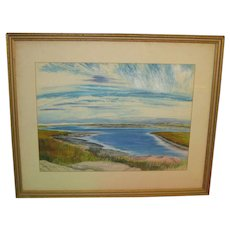 Vintage 1962 JOHN DAY 'Rhode Island Inlet Coast' MODERNIST Painting - LISTED