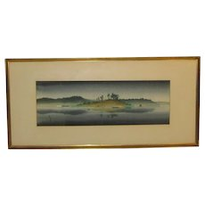Vintage Hereward Lester Cooke 'COAST AT NIGHT' Painting - National Gallery Curator