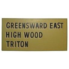 Original '60s NEW SEABURY MASHPEE CAPE COD Neighborhood Development Painted Sign - Greenswood East - Triton - High Wood