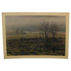 Vintage 1971 DANIEL FARBER 'Autumn Fog' Photograph - in Art Institute of Chicago