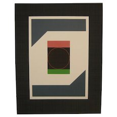 1969 GUSTAVO TORNER Geometric Abstract Signed L/E Serigraph from EQUIVALENCIAS