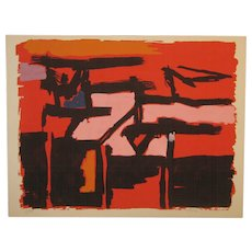 Rare 1955 ANGELO SAVELLI (1911-1995) Abstract Expressionist ABEX Lithograph - Listed MODERN