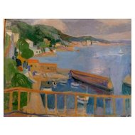 "French Riviera, c 1926, Oil on Canvas, 26 3/4 x 33 1/2"" (sight),"