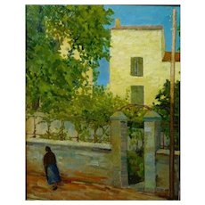 Yellow House, Provence, France, 1959, Oil on Canvas, 31 3/4 x 25 1/2""