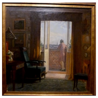 """Dressed and Waiting,"" ca 1926, oil on canvas, 25 x 25"""
