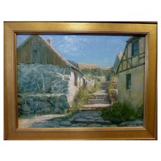 "Made of Stone, Oil on Canvas, ca 1925, 18.5 x 25"" (sight)"