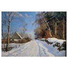 Stone Wall in Snow, ca 1935 19.75 x 27.75 (sight)