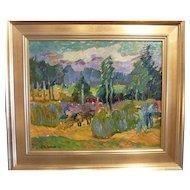 Harvest, 1949, Oil on Artist Board, 15 x 18 (sight)