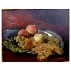 "New Listing, ""Luscious,"" French ca. 1880, 13 x 16"",  (sight) Oil on Canvas"