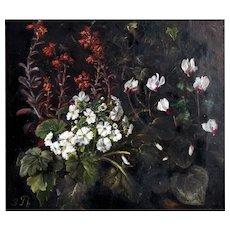 """Anemones, ca. 1880,  15 x 17 3/4"""" (19 1/2 x 22 1/4)"""
