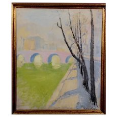 "Paris, 1939, Oil on canvas, 26 x 21"" (sight), signed"