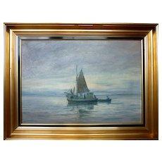 """Fishing Trawler, ca 1940, 18 x 26"""" (sight)"""