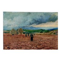 Gleaners, Ahead of Storm, France, ca 1885