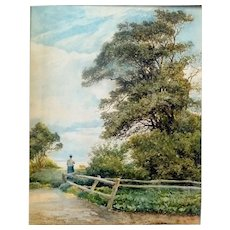 """""""The Meadow Beyond,"""" ca 1888, 22 x 16.75,"""" (image only)"""