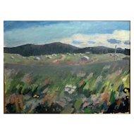 """Wild Flowers,"" ca 1965, Oil on Canvas, 20 x 26,"" (24 x 30"")"