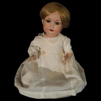 Antique Armand Marseille AM 971 Bisque Head Composition Baby Doll
