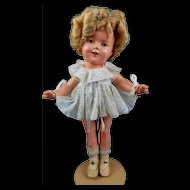 "Vintage Ideal Shirley Temple Doll Composition ALL ORIGINAL 13"" Tagged Dress CLEAR Eyes 1930s Nice"