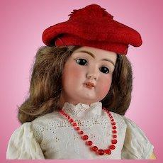 "Antique German Bisque Head Doll Early Mold 79 Org Body 24"" Elegant HTF Handwerck"