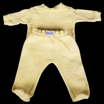 Vintage 1950's Nitey Nite Yellow Pajamas for your Tiny Tears, Dy Dee and Friends Dolls