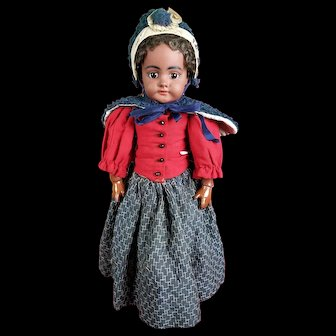 Simon Halbig Antique Girl Doll 739 Mulatto Black Org Wig, Clothes, & Body!